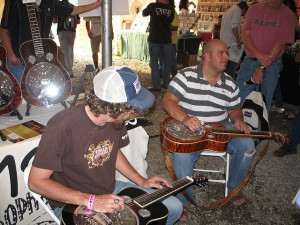 One of many impromptu jams in the instrument tent