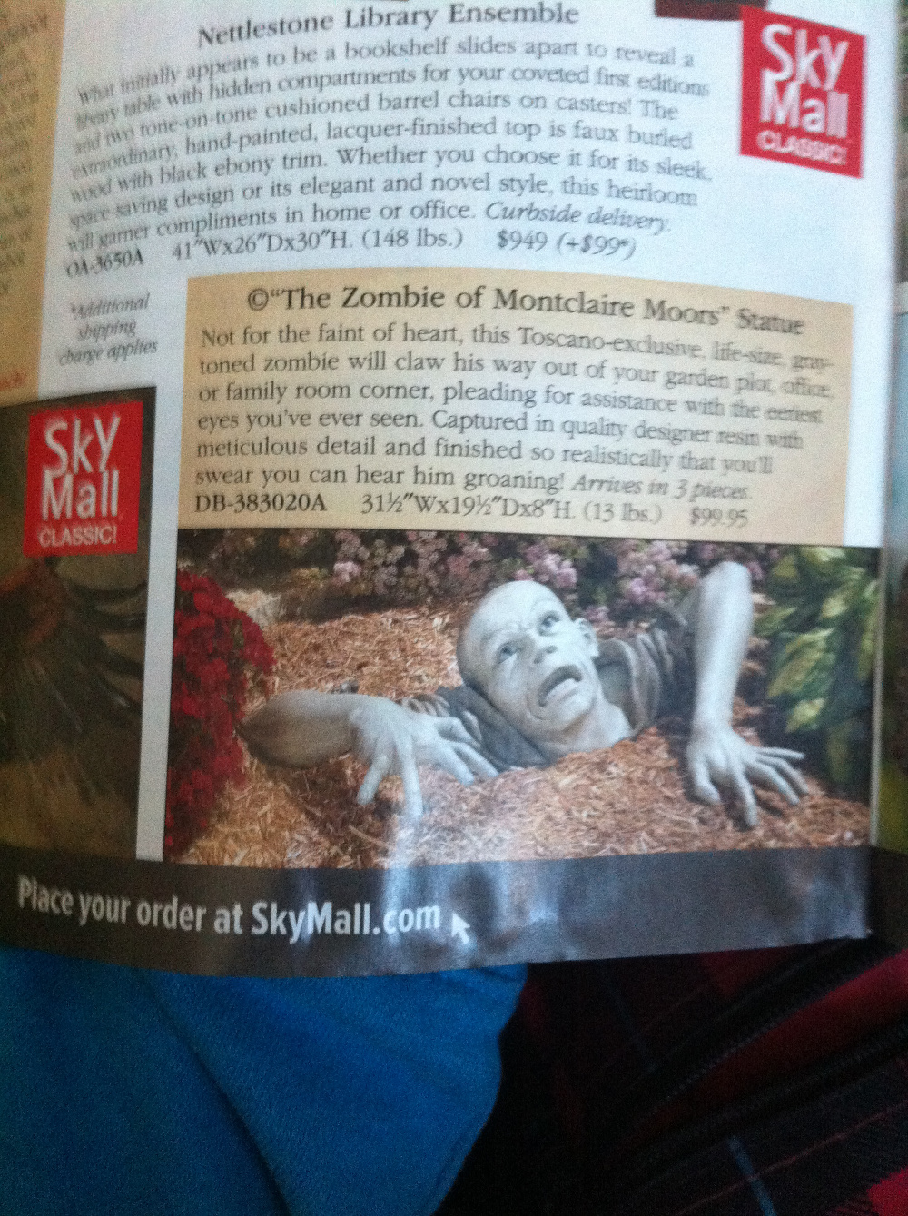 Tired of those boring garden gnomes, how about a horrific mould of a zombie re-emerging? * Arrives in 3 pieces