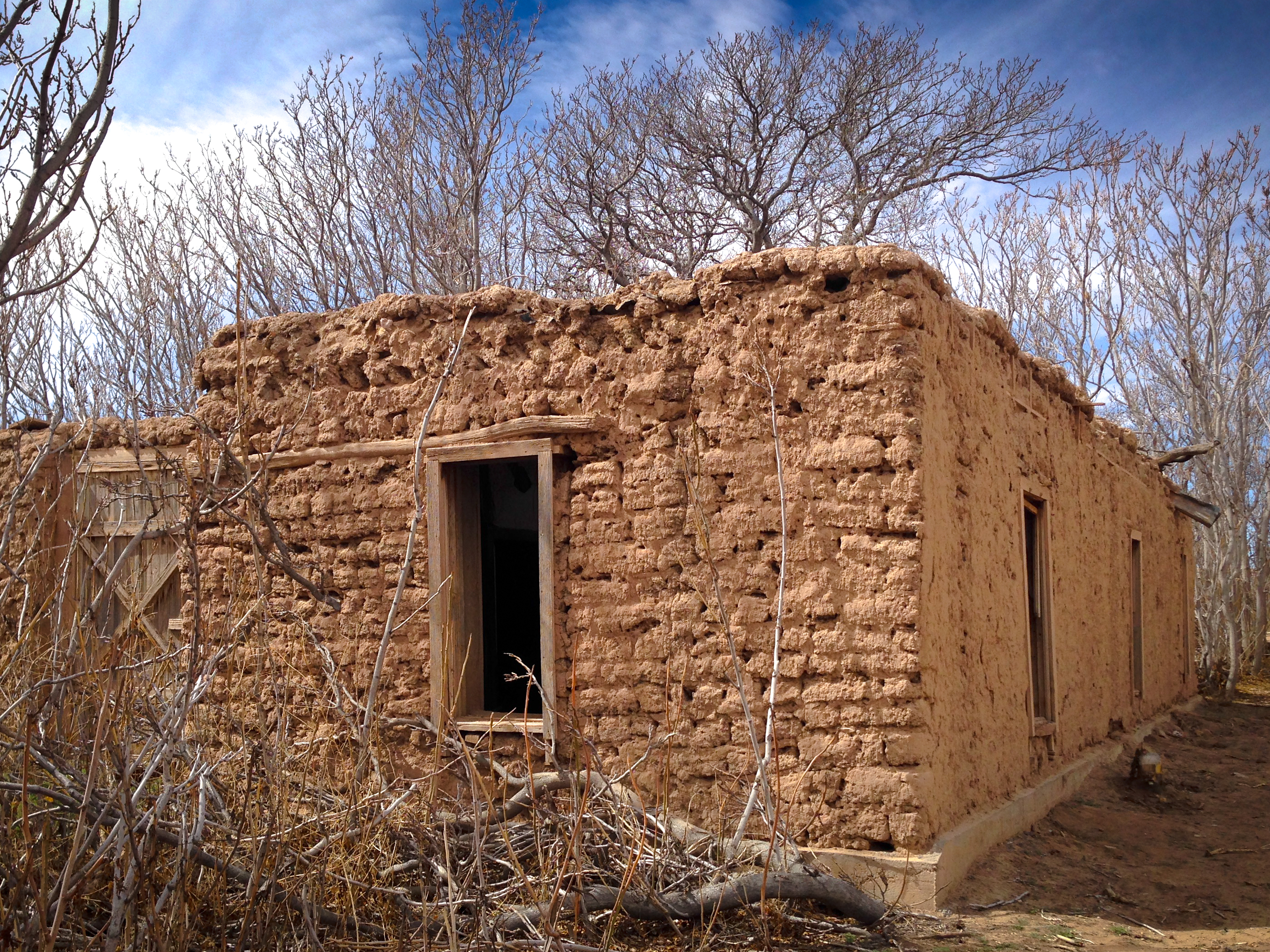 Abandoned Adobe exterior