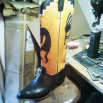 Kokopelli boots by Garland