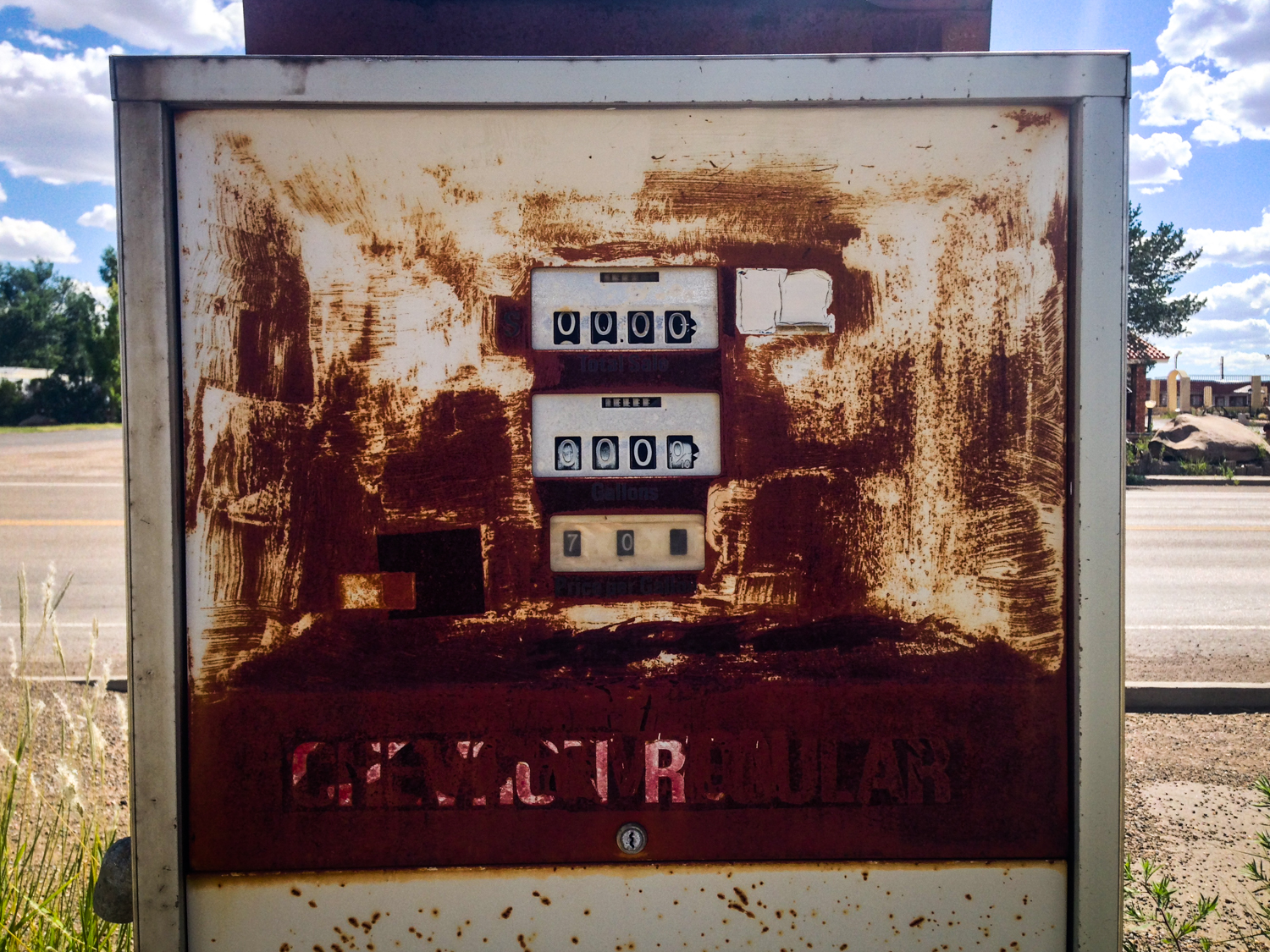 Old gas pump, Vaughn NM